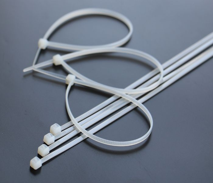 ④100PCS 8 inch 200mm*3mm White Cable Wire Zip Ties Nylon Cable Tie ...