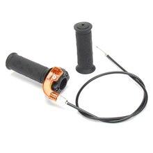 Поворотная ручка акселератора дроссельной заслонки+ кабель для 47cc 49cc Mini Dirt Bike Quad
