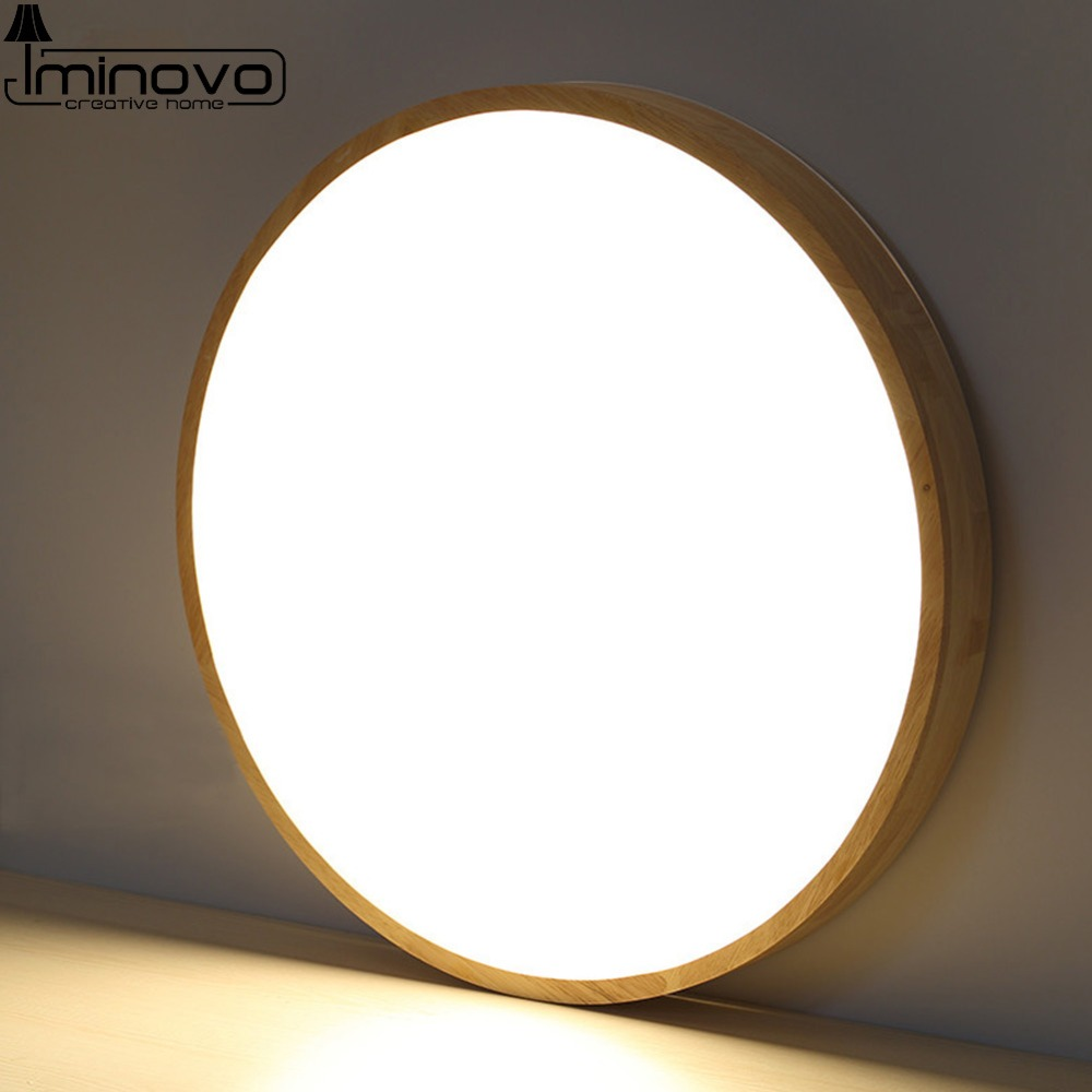 LED Modern Ceiling Light Round Lighting Wooden Panel Lamp Fixture Living Room Hall Remote Control Surface Mount Flush Bedroom black and white round lamp modern led light remote control dimmer ceiling lighting home fixtures