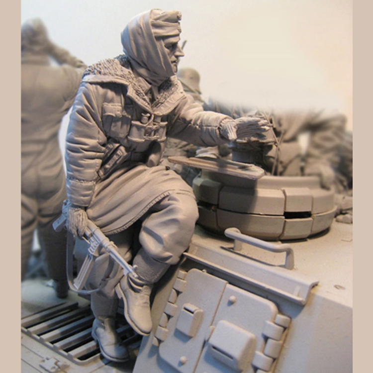 1/16 Figure Resin Resin Kits Historical Soldiers Resin Figures Model Kits Winter Tank Knight 160G