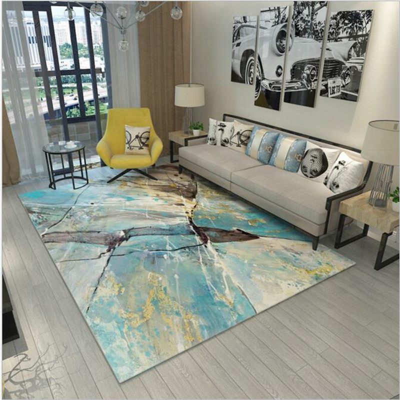 Abstract Large Pastoral Style Modern Soft Carpet For Living Room Bedroom Kid Play Delicate Rug Home Floor Fashion Study Room Mat