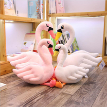 New Style Swan Short Plush Toys Stuffed Animal Doll Toy Soft Pillow Girls Gifts Kids Room Decoration