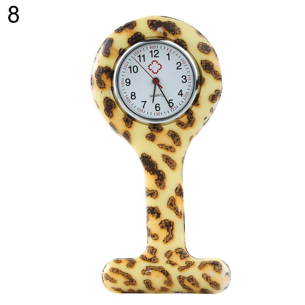 Модный Топ популярный бренд класса люкс арабские цифры Круглый циферблат Силиконовые Медсестры Брошь Туника кармашек для часов Часы
