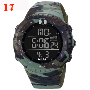 OTS Men's Watches Sport Digital Watch Men LED 50M Waterproof Diving Electronic Watch Military Men Wristwatch Relogio Masculino 1