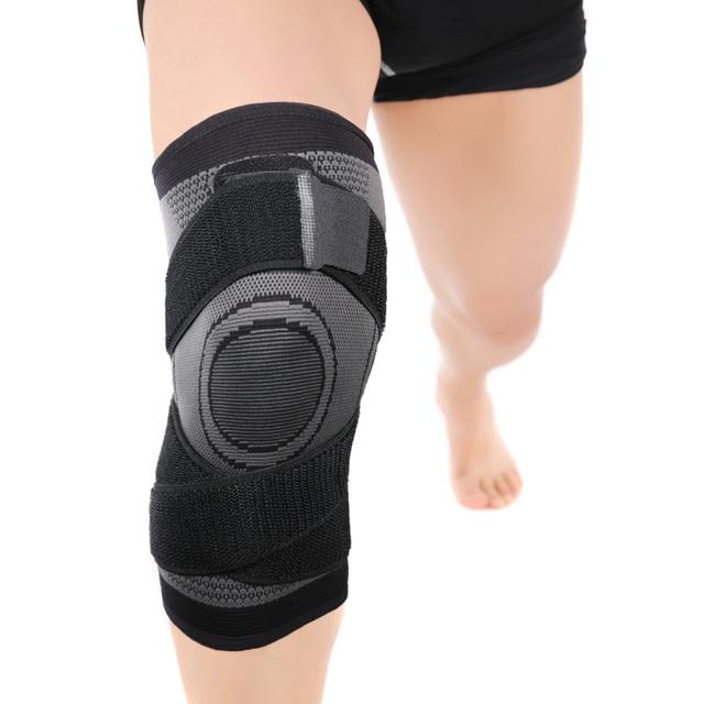 Navio da gota dos eua pressurizado fitness correndo ciclismo bandagem suporte no joelho cintas elástico náilon esportes almofada de compressão manga 2