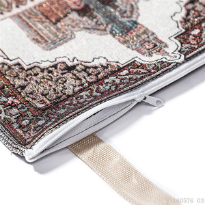 Image 5 - נייד דק האסלאמי תפילת מחצלת המוסלמי סאלאט Musallah נסיעות שטיח מתפלל שטיח Sajadah האסלאמי שמיכת מחצלת המכירה עם תיק