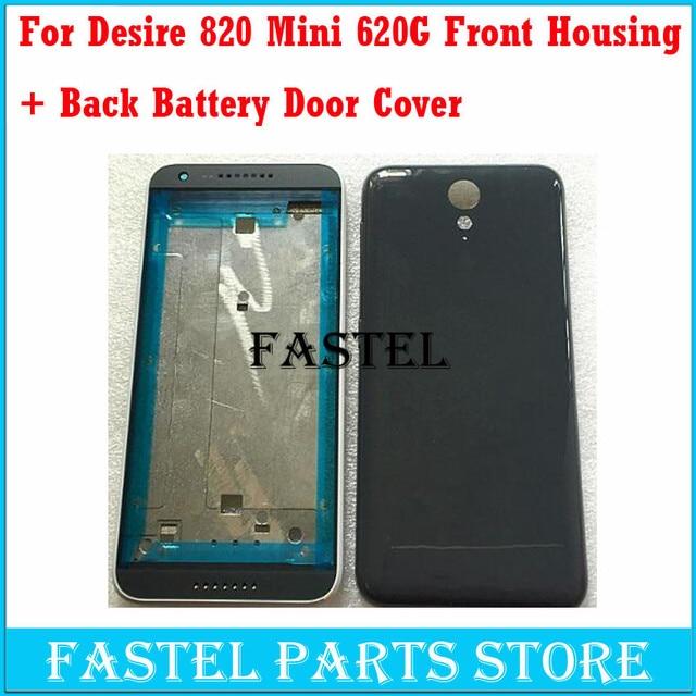 Оригинальный ЖК-Передняя Рама Задняя Крышка Батареи Для HTC Desire 820 мини 620 Г Корпус С Кнопка Питания Объем 3 М клей.