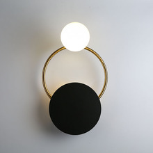 Umeiluce Nordic Postmodern Led Wall Lamp Glass Shade Matel Sconce for Living Bed Room Aisle Study Ambient Light G9 Bulb