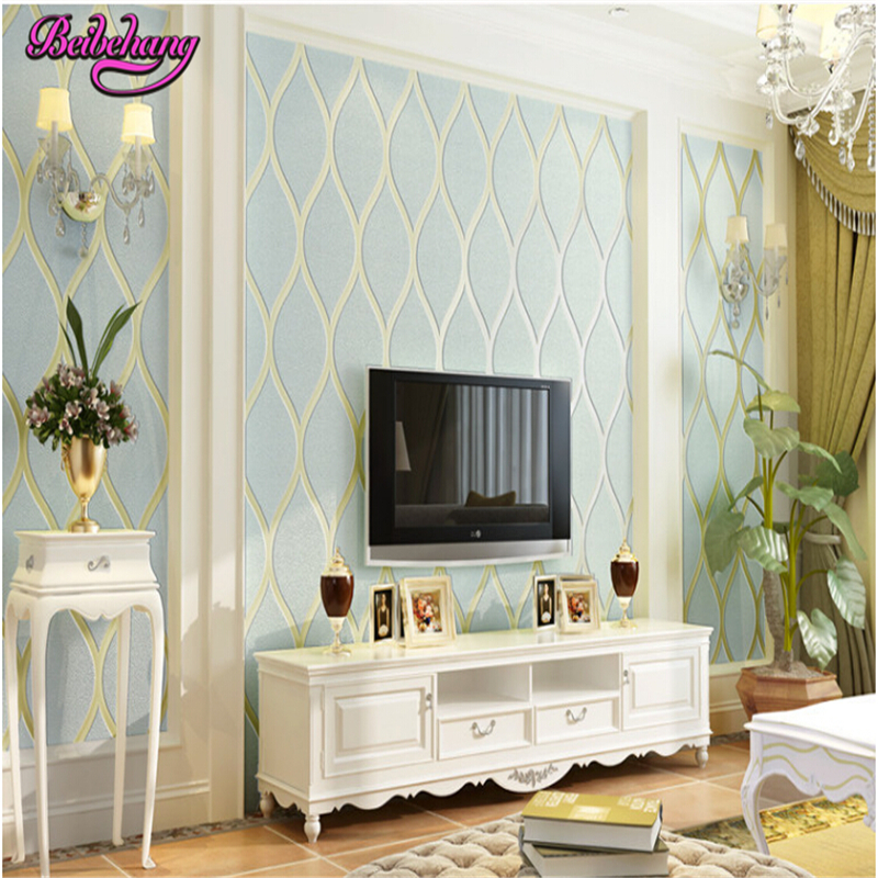 beibehang European TV background wall paper embossed non woven modern minimalist wallpaper bedroom living room papel de parede beibehang papel de parede 3d non woven wall paper roll embossed idyllic romantic bedroom living room tv background wallpaper