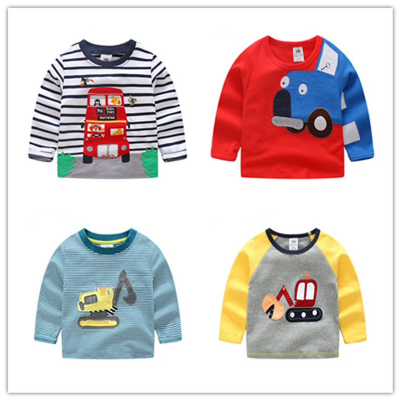 Kids Tops T-Shirts Clothing Long-Sleeve Baby-Boys Cotton High-Quality Children's Cartoon