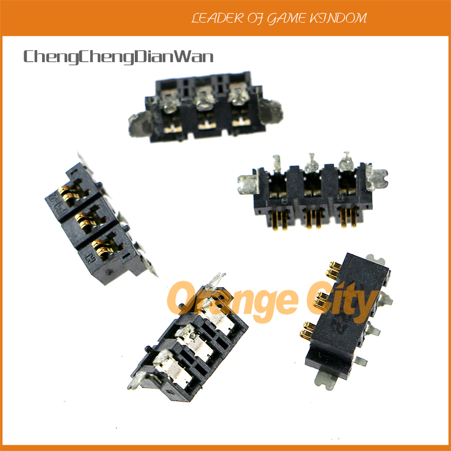 ChengChengDianWan 5pcs/lot original <font><b>battery</b></font> socket for <font><b>2ds</b></font> repair parts image