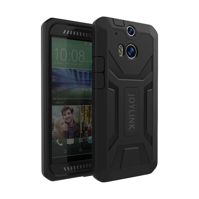 huge selection of 1ec6f ce73f US $8.95 40% OFF|JOYLINK Heavy Shockproof Dual Layer Fitted Case For HTC  One M8 M8s Built in Screen Protector Defender Armor Rugged Hybrid Cover-in  ...