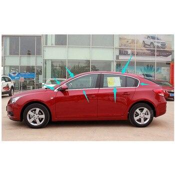 Bandes en acier inoxydable de haute qualité accessoires de décoration de fenêtre de voiture style de voiture pour Chevrolet Cruze 2009-2014 (14 pièces)