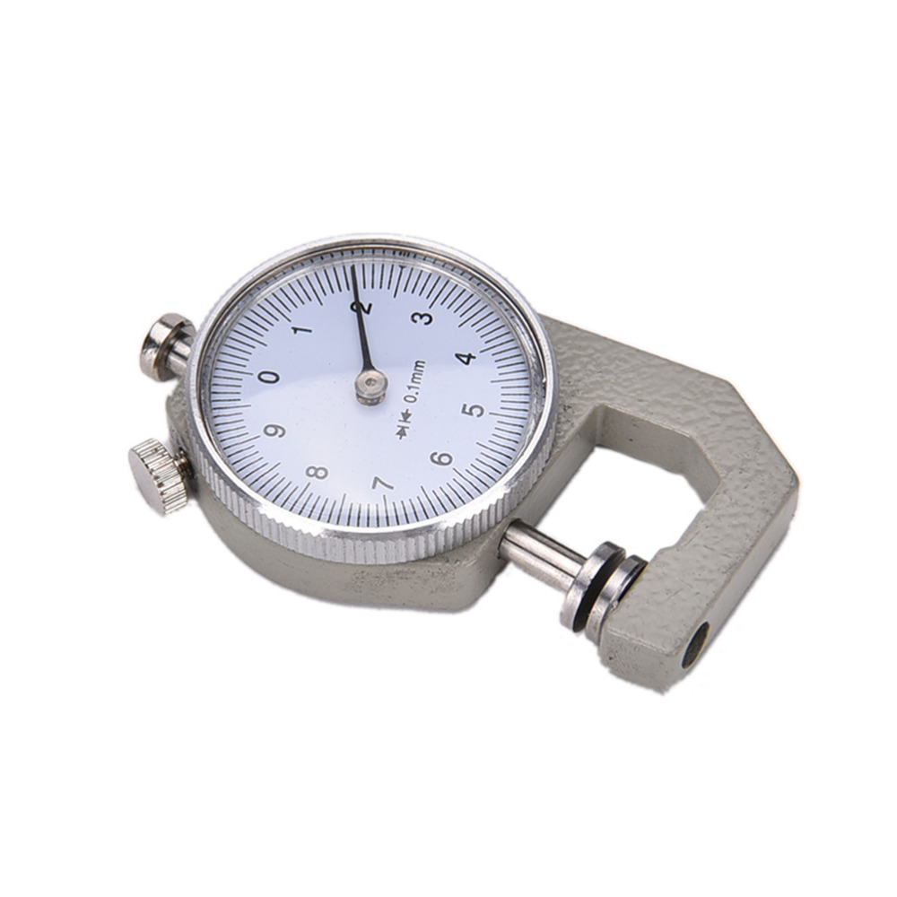 1PCS New 0-10mm Dial Thickness Gauge 10mm Leather Paper Thickness Meter Tester For Leather Flim Paper