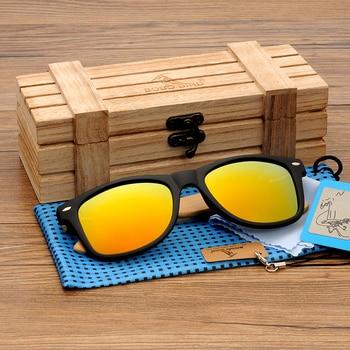 BOBO BIRD Square Vintage Sunglasses Men Women Wood Sun Glasses Retro Polarized oculos Brand 10
