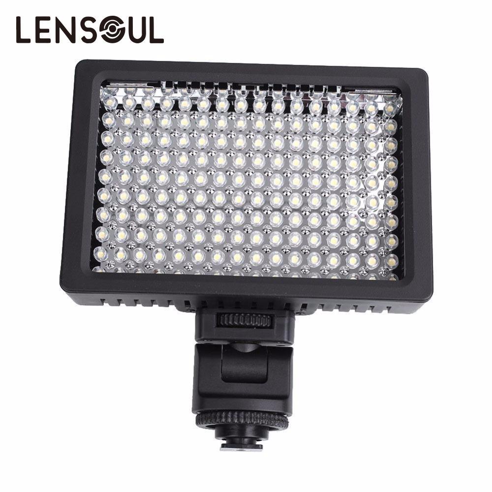 Lumière vidéo lensoul 160 LED lumière de remplissage intégrée pour Canon Nikon appareil photo numérique DSLR livraison directe en gros