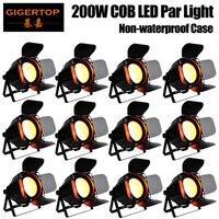Gigertop 12 Units Professional Disco DJ Wedding Studio DMX Wash Par 200W RGBW COB Par LED Stage Light Sound/Auto/Manual Control
