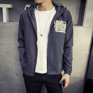 Image 4 - Japan Style Jacket Men Fashion 2020 Spring New Hooded Windbreaker Jacket Stylish Weeds Print Mens Coats Casual Mens Jackets 5XL