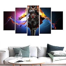 Home Decor Mural Canvas 5 Panel Game Poster Print Wall Picture Assassin Creed Painting