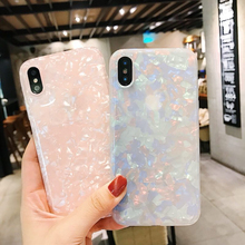 hot deal buy luxury colorful conch shell phone case for iphone 7 plus fashion cute soft back cover for apple iphone x 6 6s 7 8 plus case