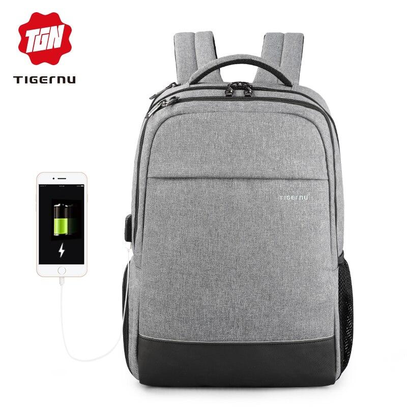 Tigernu D'affaires sac à dos pour homme Loisirs Anti vol 15.6 pouces sac à dos pour ordinateur portable Usb De Charge sac d'école pour étudiant pour les Femmes Cadeau