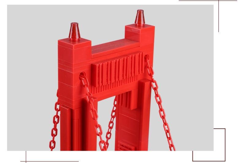 Wange 새로운 6210 1977 pcs 스트리트 뷰 시리즈 골든 게이트 브리지 모델 빌딩 블록 세트 벽돌 아이들을위한 장난감 선물-에서블록부터 완구 & 취미 의  그룹 3