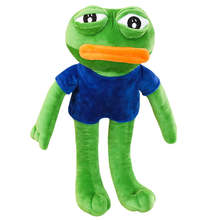50-90cm Big Size Pepe The Frog Meme Kermit Sad Frog Feels Good Man Plush Toys Soft Stuffed Animal Dolls Gift Collection(China)