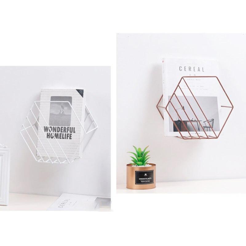 Современный настенный железный магнитный органайзер, держатель для книг, для офиса, бизнеса, полка для хранения, держатель для книг