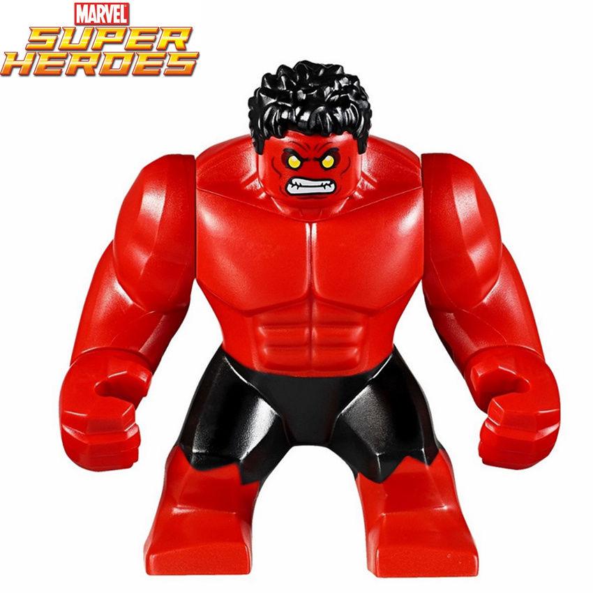 Single Sale The Incredible Red Hulk Bruce Banner Marvel Super Heroes Avengers Big -2485