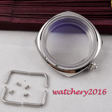 цена NEW 45mm PARNIS polished stainless steel case High Quality hardened mineral glass fit 6497 6498 ST 36 movement Watch Case онлайн в 2017 году