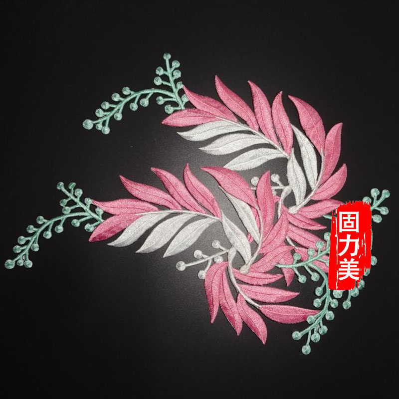 2 pc Rose Blue Pink Red Purple Orange Green flower iron on Patches para la ropa for clothing applique embroidery parches