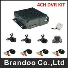 4ch mobile dvr 4 Channel H.264 SD Car Vehicle Mobile DVR Kits 4CH Video Record Car Dvr MDVR + 4pcs cameras