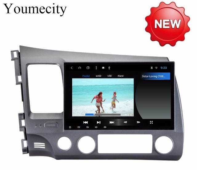Youmecity Android 8.1 2 DIN 10.1 Octa Core Car dvd Video GPS For Honda Civic 2006-2011 Acura CSX Capacitive screen+wifi+2G RAM