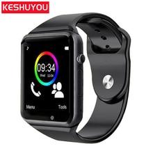 KESHUYOU A1 Bluetooth smart watch Sport Pedometer Smartwatch Android dengan SIM Kamera elektronik pintar PK apple watch phone