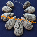 Free Shipping Interesting Wholesale 9Pcs/set Chinese Crazy Lace Agate Teardrop Pendant Bead SHX117