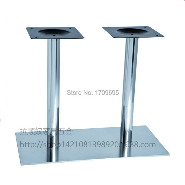 Furniture hardware stainless steel table leg double column table furniture hardware stainless steel table leg double column table legs double round tube rectangle table watchthetrailerfo