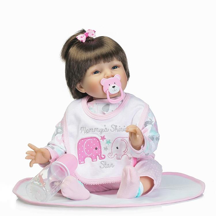 55 см мягкие силиконовые возрождается младенцев кукла игрушка для Обувь для девочек новорожденных для маленьких девочек подарок на день рож...