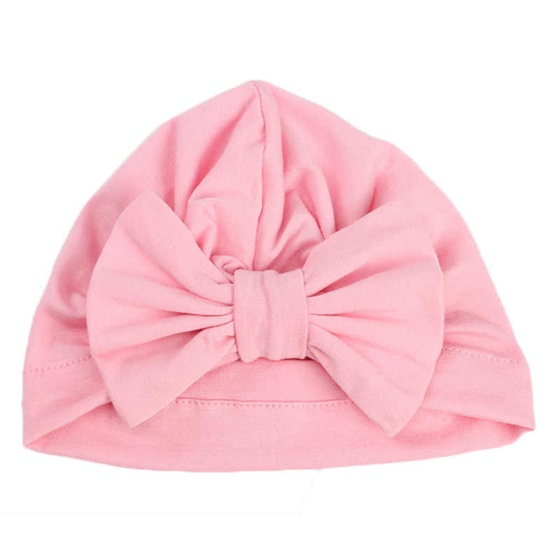 149a00bb12d ... Cute Baby Hat Winter Autumn Cotton Soft Girl Hat Knot India Style  Infant Caps Turban Newborn ...