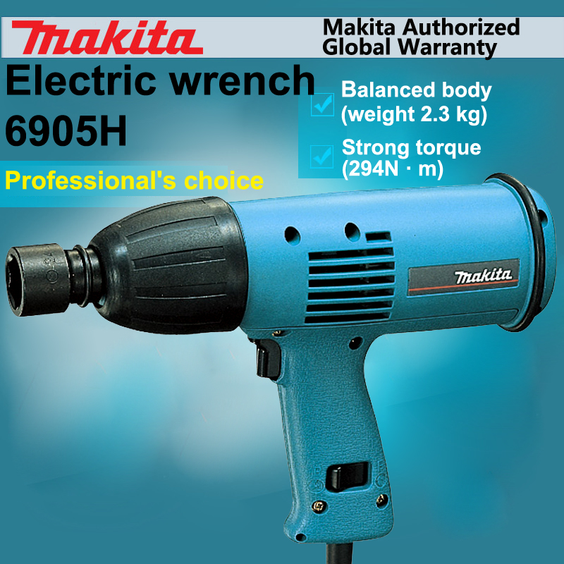 Original Japan Makita 6905H Electric Wrench Impact Wrench Bolt sleeves Strong Torque (294N.m) Balanced Body 470W