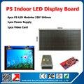 480 * 640 mm display Led vídeo interior levou placa do sinal kits diy 6 pcs p5 levou módulos + 1 pcs placa de vídeo 1 fonte de alimentação