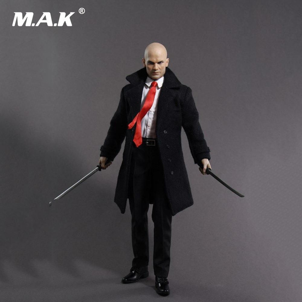 Collectible Hitman 47 Doll 1/6 Scale Full Set Action Figure Suit Headsculpt & Body & Clothes & Accessory Model Toys for Gift 1 6 scale ancient figure doll gerard butler sparta 300 king leonidas 12 action figures doll collectible model plastic toys