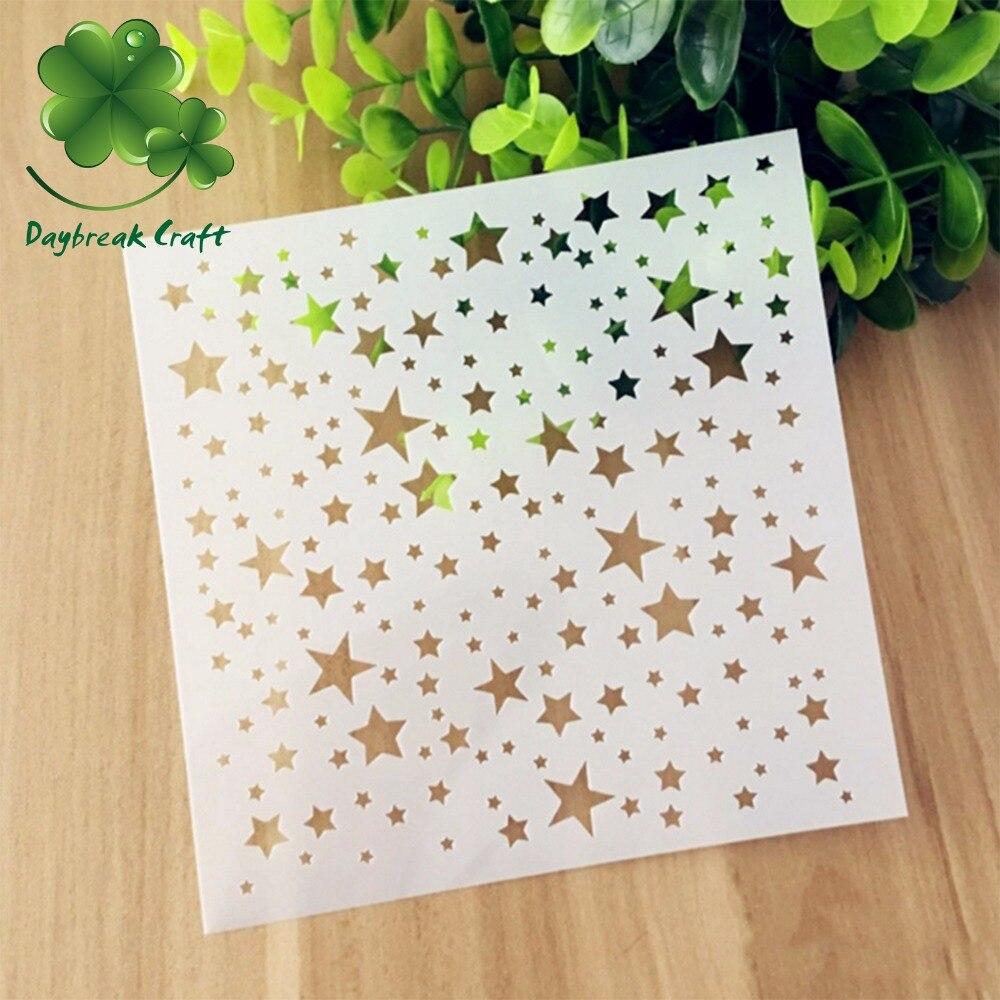 ᗖ(5.1x5.1 pulgadas) Mini estrellas colección scrapbook plantilla ...