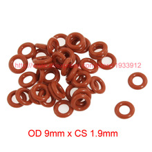 OD 9mm x CS 1.9mm silicone seal washer o-ring o rings rubber gasket