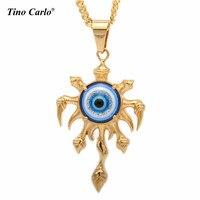 Tino Carlo New S Steel Blue Evil Eye Necklace Pendant Turkish Jewelry Cool Devil S Eye
