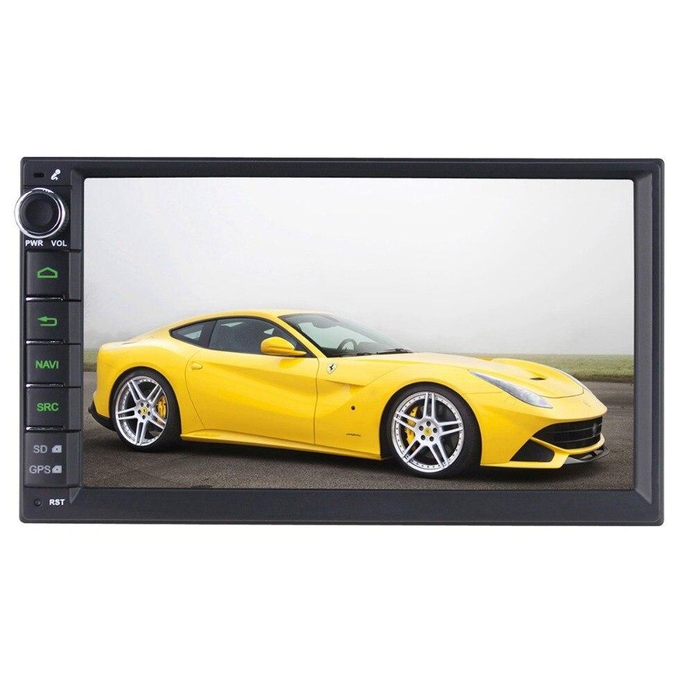 7 inch 2 Din Media Player Universal Car Radio Stereo Quad Core Android 6.0 GPS Navigator Head Unit Steering Wheel