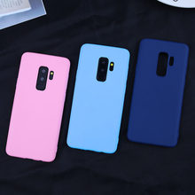 Candy Color Case for Samsung Galaxy A7 2018 S8 S9 S10 Plus Lite A3 A5 A7 J3 J5 J7 2017 A6 A8 Plus 2018 s7 edge Soft Silicon Case(China)