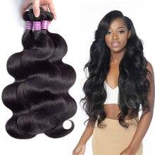 Mèches brésiliennes naturelles Body Wave 1B #, Extension de cheveux, couronne Chic, offre en lots, livraison rapide, vous pouvez acheter 4 lots