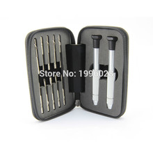 2016 Hot sale12psc/Set Glasses Stainless steel Screwdriver Set kit precision Watch Repair Tools with Packing Hand Bag
