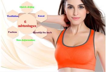 Women sport Bras Sexy Seamless Yoga Shirts Sport Bra Top Comfortable Bra Push Up for