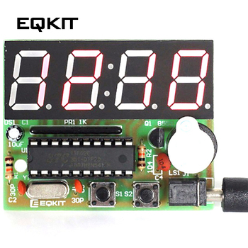 e0c3f6d44739 Precisa C51 reloj electrónico temporizador de 4 Bits reloj Kit de bricolaje  electrónica DIY Kit de